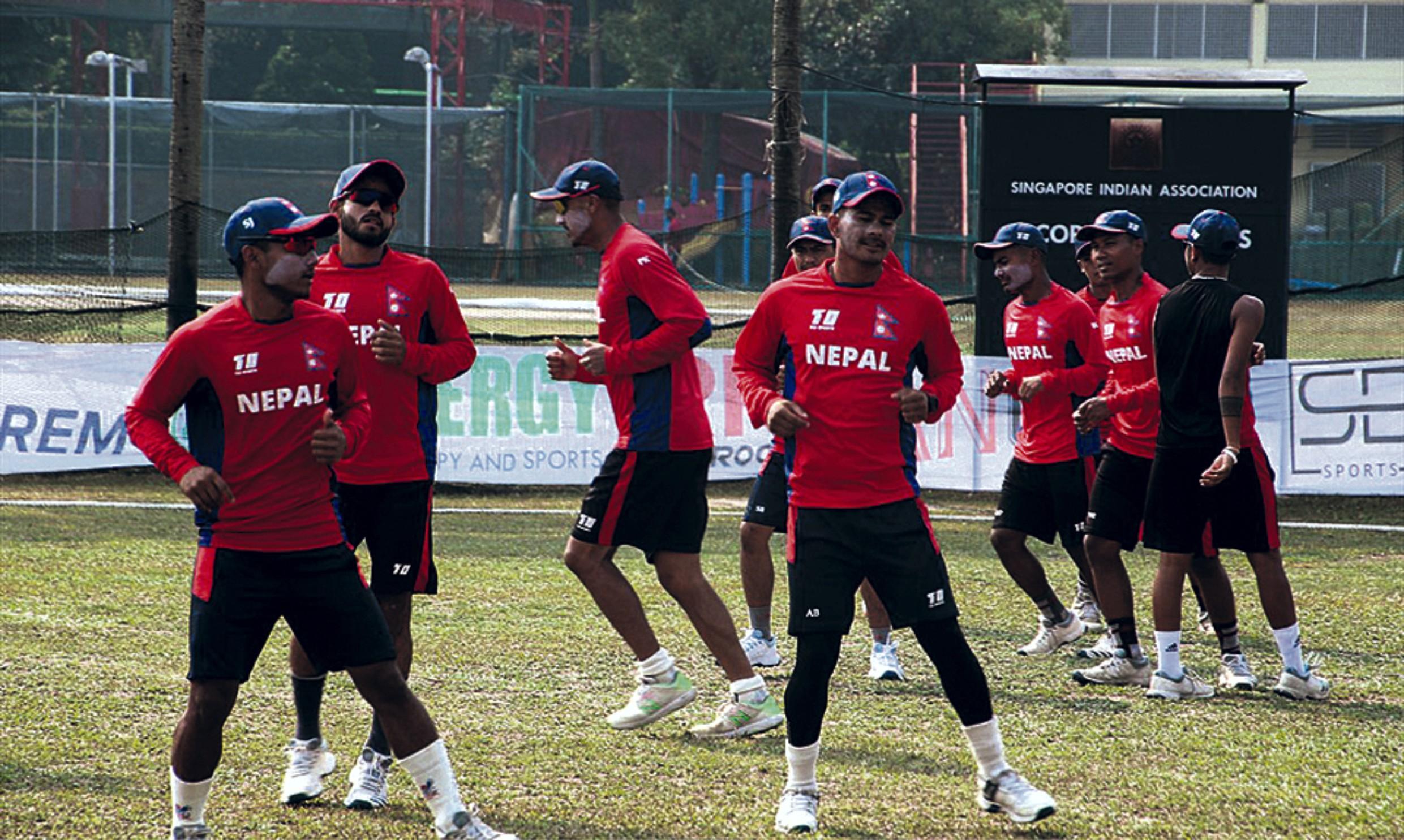 आजबाट नेपाली राष्ट्रिय क्रिकेट टिमको बन्द प्रशिक्षण सुरु