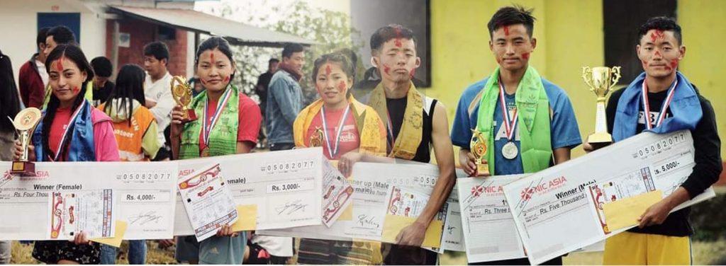 पहिलो पाटीगाउँ दौड सम्पन्न, उपाधि सुमन र सिमाको पोल्टामा