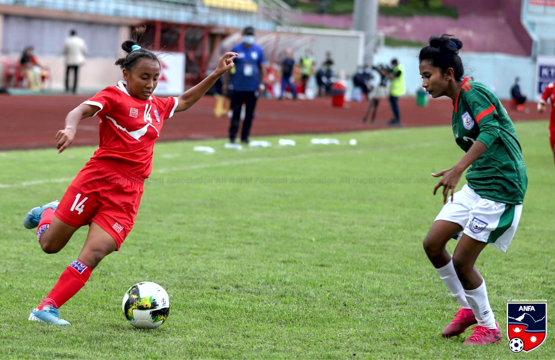 दोस्रो अन्तराष्ट्रिय मैत्रीपूर्ण खेलमा नेपाल बंगलादेशसँग बराबरीमा रोकियो