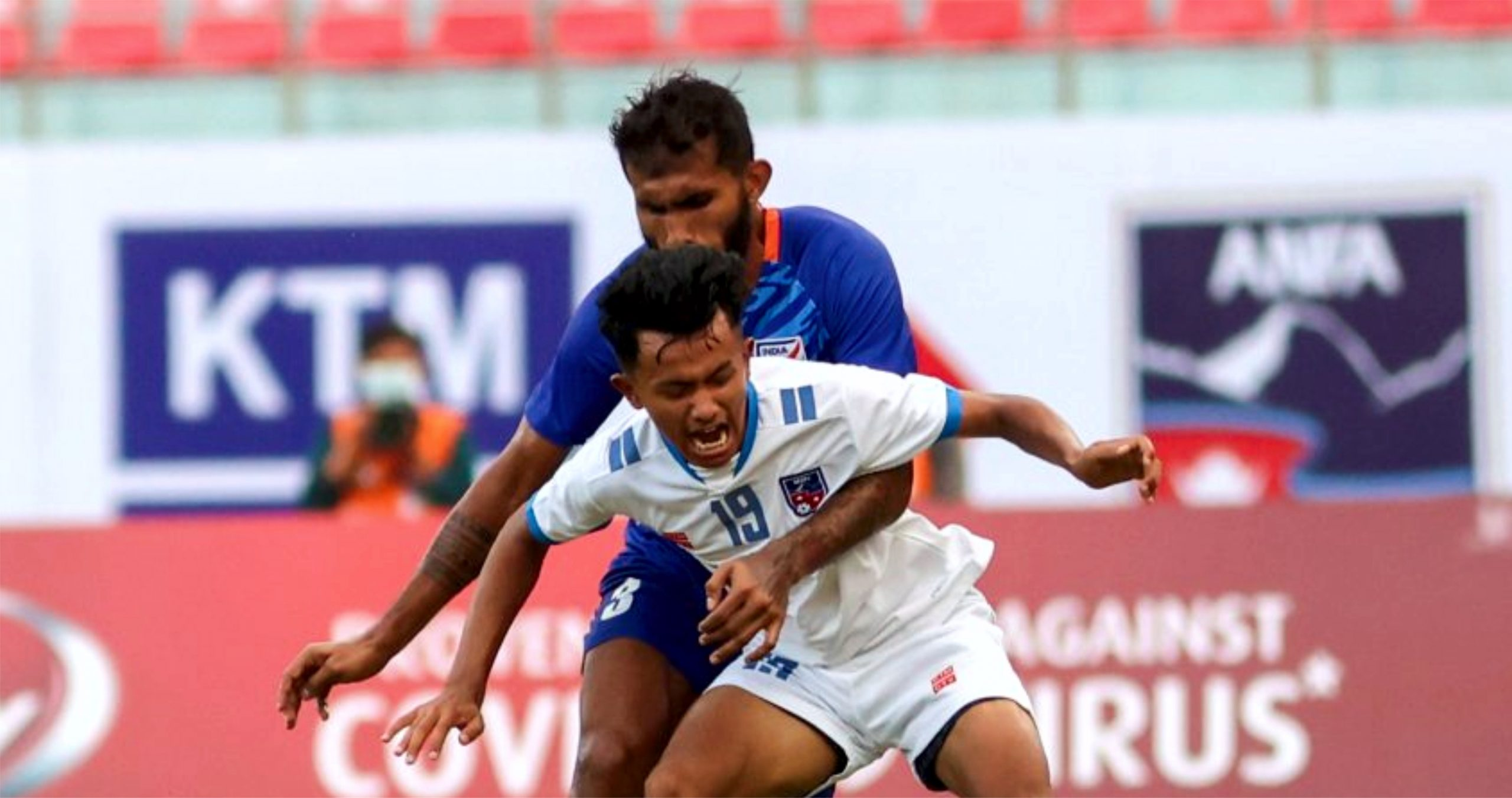 दोस्रो मैत्रीपूर्ण फुटबलमा नेपाल भारतसँग पराजित